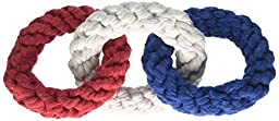 Grriggles America\'s Pup Rope Chain Red White Blue