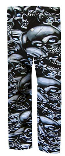 (Creepy Skulls Lounge Pants for men (Small))