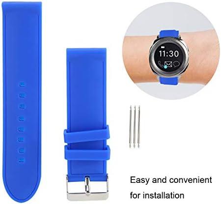 時計バンド、24 mm防水シリコン時計ストラップ耐汗性ピンバックル時計バンド、時計職人および時計修理用の3つのスプリングバー付き