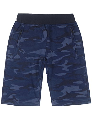 Spring&Gege Boys' Pull On Soft French Terry Camouflage Sport Shorts, 7-8 Years, Camo/Navy - 7 Old Navy Shorts