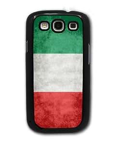 Italian Flag - Samsung Galaxy S3 Cover, Cell Phone Case - Black