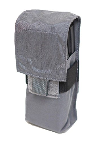 LBX TACTICAL Double Stack M4 Mag Pouch, Wolf Grey, One Size ()