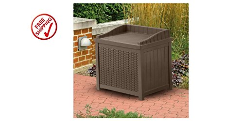 Outdoor Storage Seat 2 Gallons Capacity Unit Plastic Waterproof Patio Furniture by EasyandFunDeals