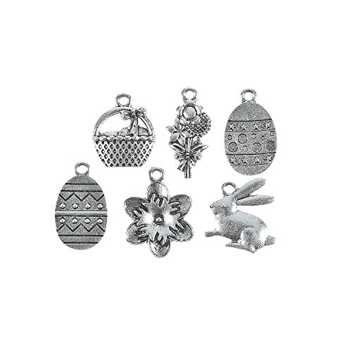 Fun Express - Easter St Charm Assortment for St. Patrick's Day - Craft Supplies - Adult Beading - Charms - St. Patrick's Day - 12 -