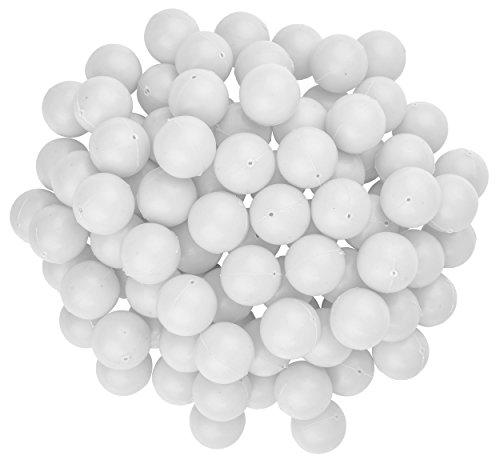 Fairly Odd Novelties 3/4 Mini Ping Pong/Table Tennis/Beer Pong Round Balls (100 Pack), 19mm, White