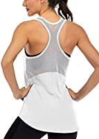 ICTIVE Workout Tank Tops for Women Sleeveless Yoga Tops for Women Mesh Back Tops Racerback Muscle Tank Tops