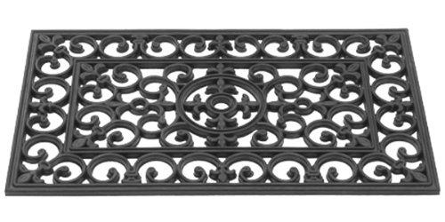 gardman rubber victorian cast style door mat outdoor amazon ca