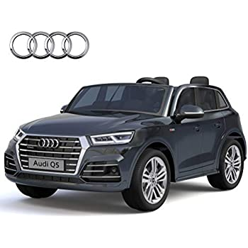 alison licensed audi q5 children rechargeable 12v two seat toy car with remote