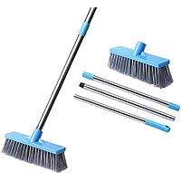 KMAKII Floor Brush Bathroom Cleaning Brush Cleaning Supplies Deck Brush Adjustable Length Floor Brush for Balcony…