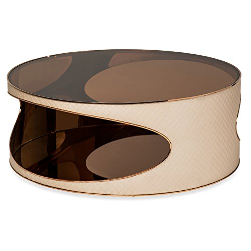 Michael Amini FS-SOEPS301 Solar Eclipse Large Round Cocktail Table by Michael Amini