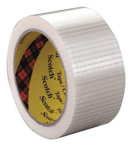 Scotch Bi-Directional Filament Tape 8959 Transparent, 50 mm x 50 m, Conveniently Packaged (Pack of (Scotch Bi Directional Filament Tape)