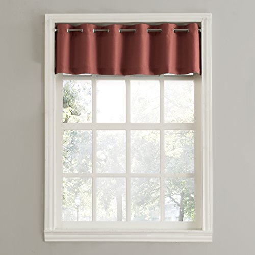 918 Montego Casual Textured Kitchen Curtain Valance 56 X 14 Paprika Red