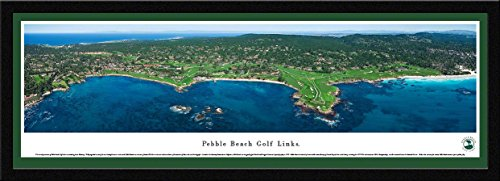 Pebble Beach Golf Links - Blakeway Panoramas Golf Posters with Select Frame