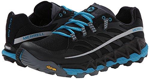All Trail Femmes Pied Peak Piste noir Merrell Course Pour Bleu D En Noir Out De 41qX00dx