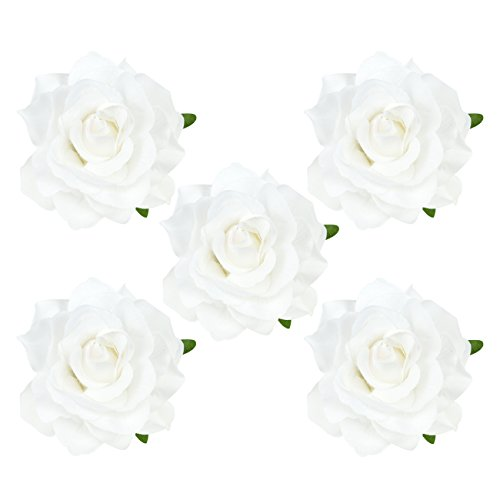 DRESHOW Flower Hair Clip Rose Hairpin Floral Brooch Floral Hair Clips for Women Rose Hair Accessories Wedding Pack 5/16 ()