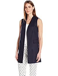 Women's Elongated Linen Gilet Vest