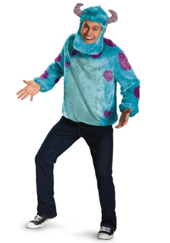 Disguise Costumes Disney Pixar Monsters University Sulley Deluxe Mens Adult Costume, Blue/Purple, (Monsters University Sulley Costume)