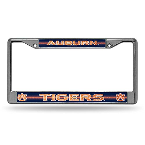 NCAA Auburn Tigers Bling Chrome Plate Frame (Auburn Tigers Chrome License Plate)