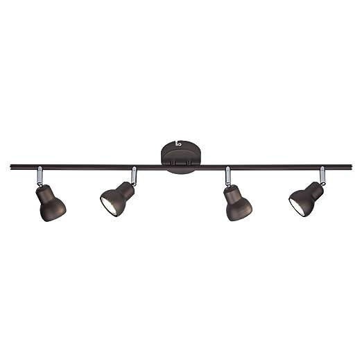 Biard Brooklyn Lámpara de Techo con 4 Focos Multidireccionales - Barra Riel de Iluminación Interior - 4 Luces - Color Chocolate Metalizado ...