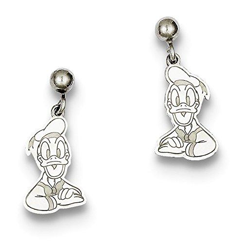 Duck Dangle Post (Sterling Silver Disney Donald Duck Dangle Post Earrings)