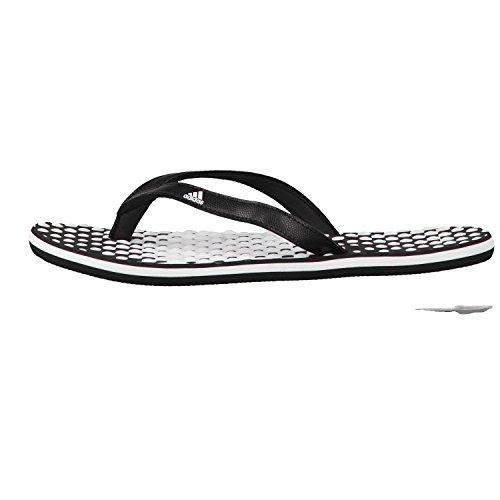 adidas Eezay Flip Flop, Zapatos de Playa y Piscina Para Mujer Blanco (Ftwbla / Negbas / Negbas 000)