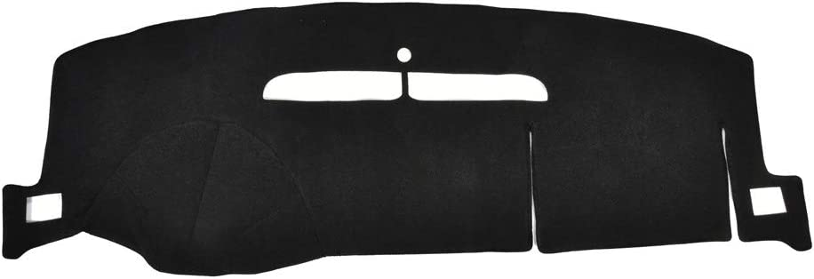 Catinbow Black Center Console Cover Dash Mat Protector Sunshield Cover for Chevrolet Silverado 07-13 / Tahoe Suburban 07-12 Carpet Dashboard Mat