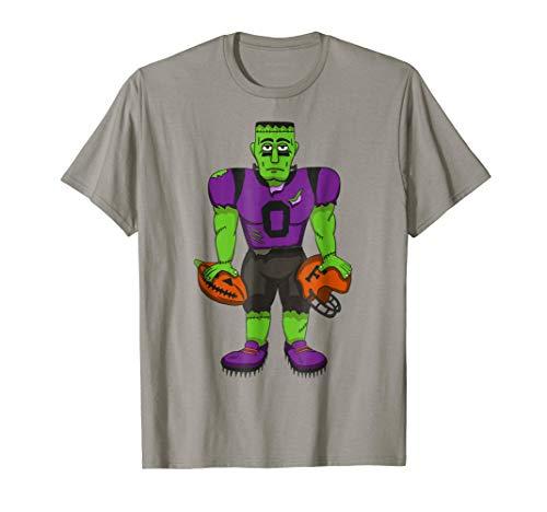 Halloween Football T-Shirt Frankenstein Sports Gift Shirt ()