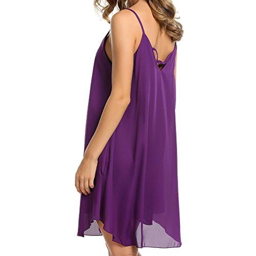 juqilu Frauen Sexy Camisole Kleid Damen Sommer Sleeveless Backless ...