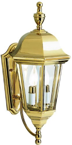 Kichler Polished Brass Wall - Kichler 9439PB Grove Mill Outdoor Wall 2-Light, Polished Brass