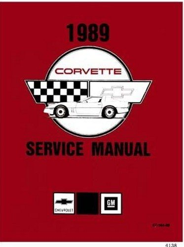 1989 CORVETTE FACTORY REPAIR SHOP & SERVICE MANUAL IN A MASSIVE 2 VOLUME SET - INCLUDES; 1989 Hatchback, '89 Convertible