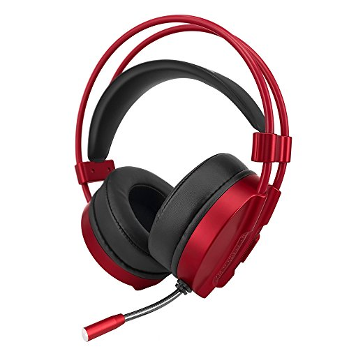 VersionTech Gaming Headset for PC Computer Games, Wired Stereo Over Ear Headphones with Microphone, Water-Cool Led Lights, Soft & Comfy Ear-Pads for Laptop Notebook Desktop Computers Gamers
