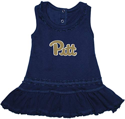 University of Pittsburgh Panthers Ruffled Tank Top Dress with Bloomer Set Navy