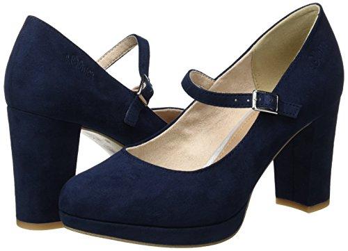 S oliver navy 24411 805 Sandalias Mujer Con Azul Plataforma Para rrngdqFSxw