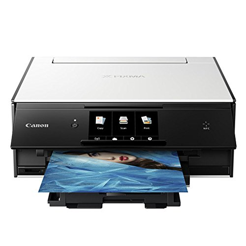 Canon PIXMA TS9020 Wireless All-in-One Inkjet Printer (White) + Canon CLI-271 Value Ink Pack + Type A to Type B USB Cable + Super Dust Blower + Photo4Less Cleaning Cloth – Deluxe Printing Bundle by PHOTO4LESS (Image #2)