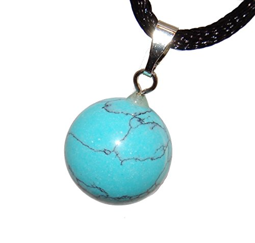 Celestial Collection - 12mm Moon Sphere Ball Turquoise Blue, 20