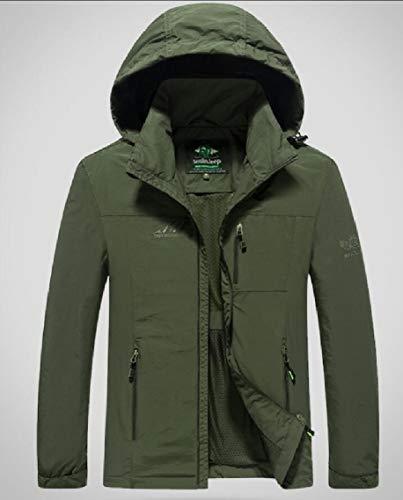 Raincoat Jacket Gocgt Rain Mens Outdoor Army Windproof Waterproof Hooded Lightweight Green 7Ew8qxEra