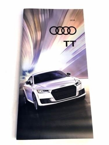 2018 Audi TT 32-page Original Car Sales Brochure Catalog Quattro Roadster RS TTS