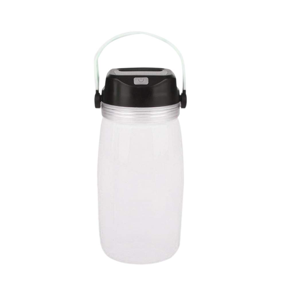 millet16zjh Creative Bottle Solar Charge Luminous Camping Travel Bike Sport Water Cup White