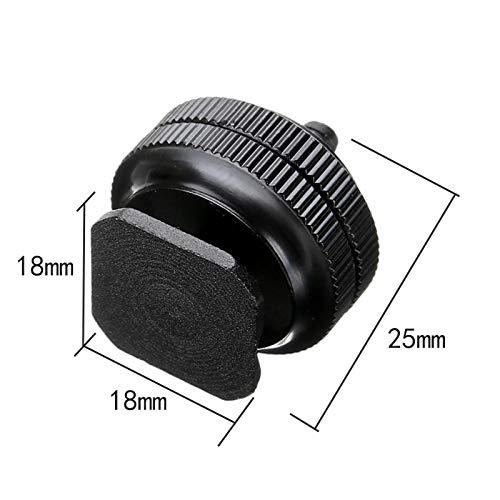 FENGYI KEJI Pro 1//4 Dual Nuts Tripod Mount Screw Black to Flash Shoe Adapter for Camera Studio Accessory