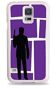 Purple Archer Silhouette Galaxy S5 White Silicone Case