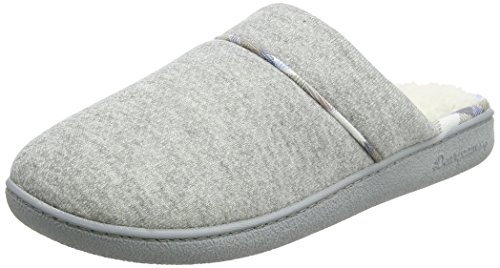 Dearfoams Closed Toe Scuff - Pantuflas Mujer Grey (Light Heather Grey)