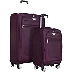 "Ricardo Eureka Deluxe Superlight 2 Piece Luggage Spinner Set: 30"" and 21"" (Royal Purple)"