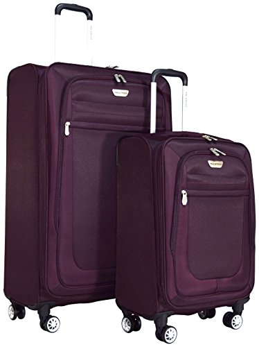 Ricardo Eureka Deluxe Superlight 2 Piece Luggage Spinner Set: 30'' and 21'' (Royal Purple) by Ricardo Beverly Hills