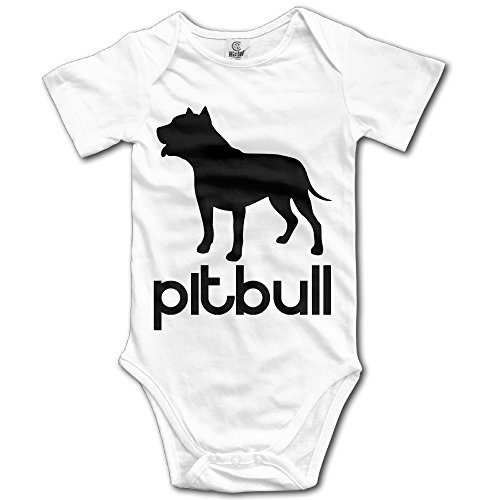 (PITBULL DOG SILHOUETTE! Baby Short Sleeve Bodysuits)