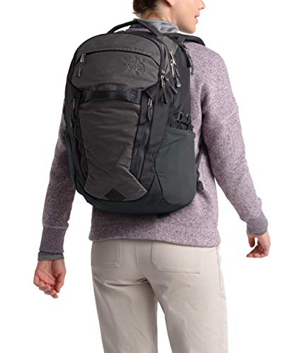 The North Face Surge, TNF Dark Grey Heather/Asphalt Grey, OS (North Face Backpack Gray)