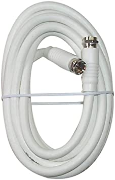 Coax with Fittings Black Point Products BV-083 White 12-Foot RG-6 H.D White