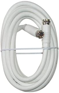Black Point Products BV-083 White 12-Foot RG-6 H.D. Coax with