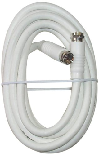 Black Point Products BV-083 White 12-Foot RG-6 H.D. Coax with Fittings, White