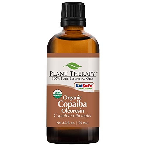 Plant Therapy Essential Oil | Copaiba Oleoresin Organic | 100% Pure, Undiluted, Natural Aromatherapy, Therapeutic Grade | 100 Milliliter (3.3 Ounce)