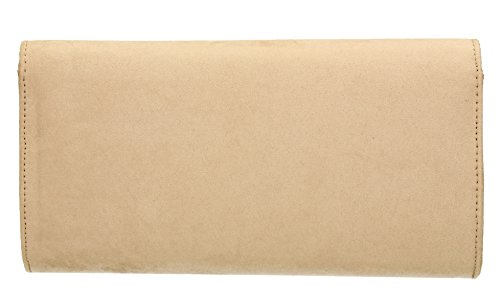 Clutch Look SwankySwans Bag Prom Clutch Womens Nude Party Sabrina Suede waYTf